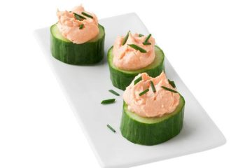 Salmon Cucumber Cups