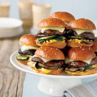 mini portobello mushroom burgers