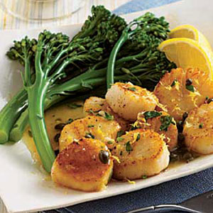 Sea Scallops with Lemon and Capers