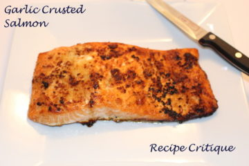 garlic crusted salmon