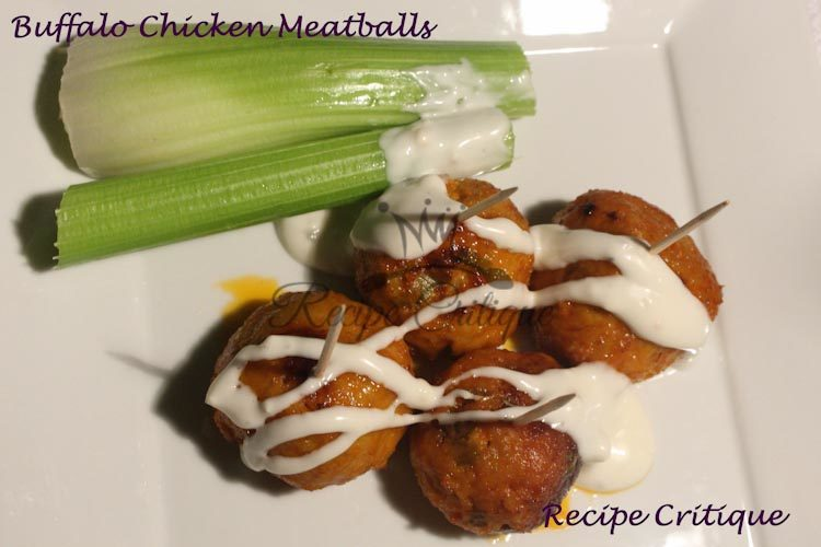 Easy Buffalo Chicken Meatballs