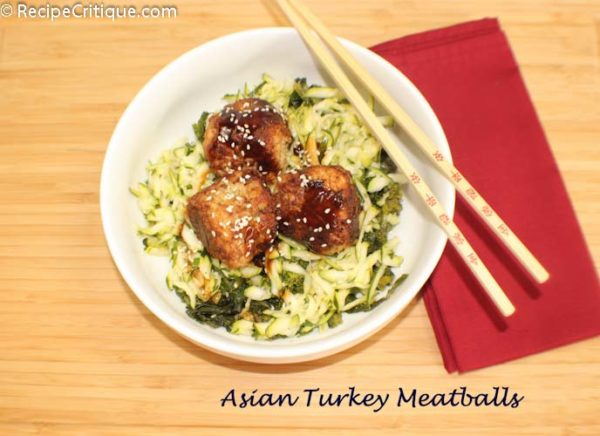 Asian turkey meatballs with plum sauce