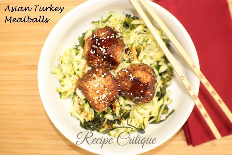 Healthier Asian Turkey Meatballs with Plum Sauce