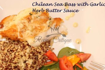 Chilean Sea Bass with Garlic Herb Butter Sauce