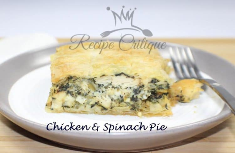 Mediterranean Chicken & Spinach Pie