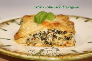 Crab & Spinach Lasagna