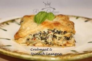 Crabmeat & Spinach Lasagna