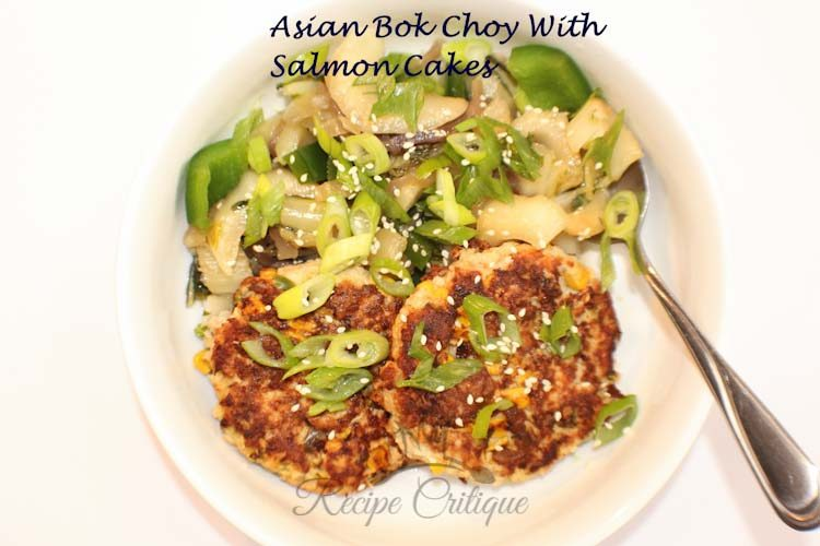 Asian Bok Choy with Salmon Burgers Recipes