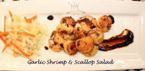 Garlic Shrimp & Scallop Salad