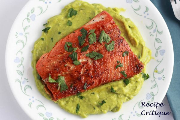 Seared Salmon with Avocado Remoulade