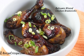 Balsamic Glazed Chicken Drumsticks Recipe