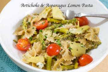 Artichoke Asparagus Lemon Pasta