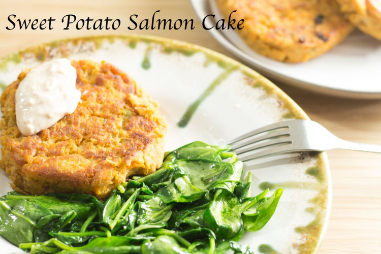 Roasted Sweet Potato Salmon Cakes