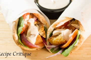 Chicken Spinach Pita Wraps