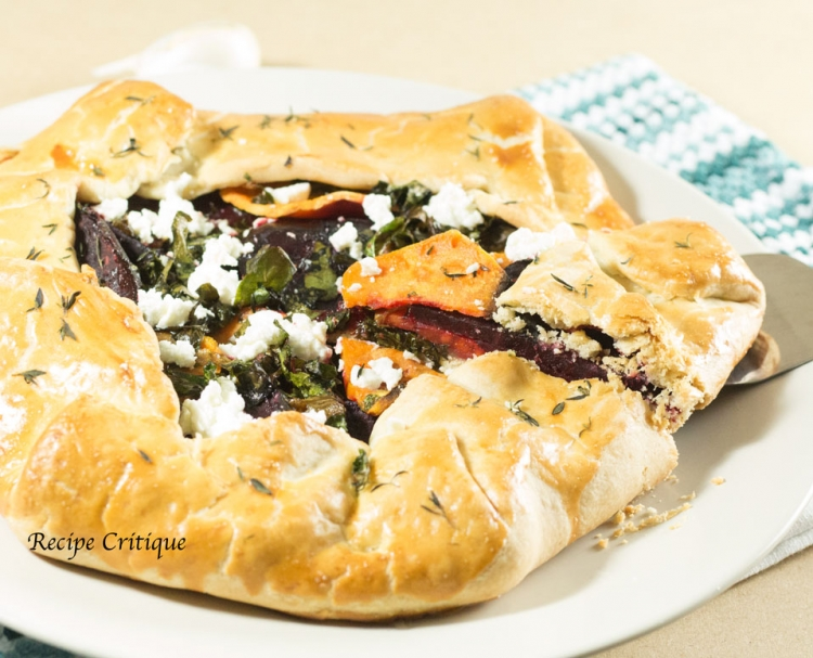 Savory Roasted Beet and Sweet Potato Galette Recipe