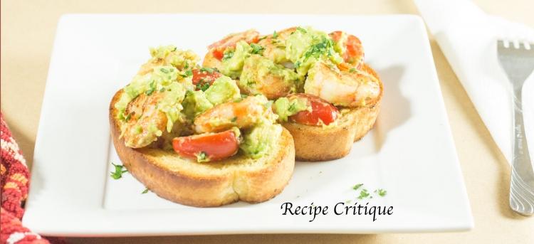 Garlic Lemon Shrimp and Avocado Toast