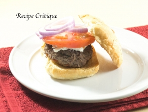 Organic Beef Hamburger with Goat Cheese