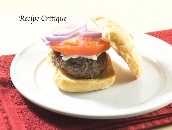 Organic Beef Hamburger with Goat Cheese
