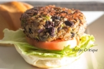 Baby Bella, Black Beans & Broccoli Burgers