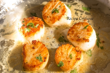 easy pan seared lemon garlic butter scallops