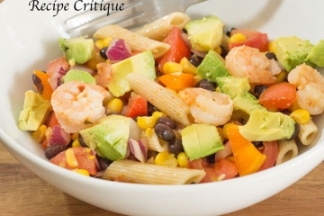 Zesty Mexican Pasta Salad with Shrimp