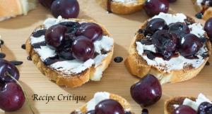 balsamic cherry and goat cheese crostini