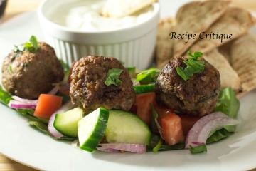 Greek Lamb Meatballs with Tzatziki Sauce