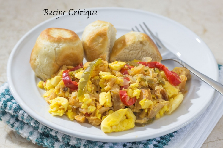 Jamaican Ackee and Salt Fish with Fried Dumplings