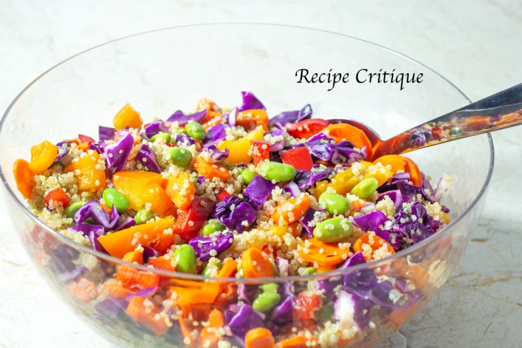 Asian Rainbow Quinoa Salad With Edamame
