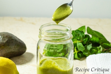 Creamy Avocado Mint Caper Dressing