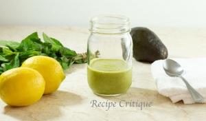 www.recipecritique.com Avocado Mint Salad Dressing