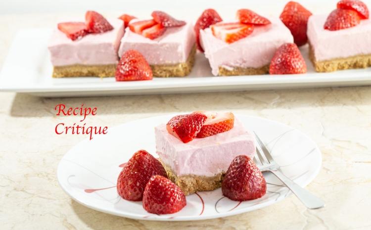 Strawberry Banana Cheesecake Bars
