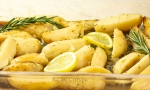 www.recipecritique.com Lemon Rosemary Potato Wedges