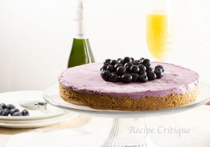 www.recipecritique.com No Bake Blueberry Cheesecake