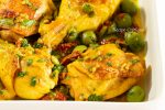 www.recipecritique.com/vinegar chicken with olives & sun dried tomatoes