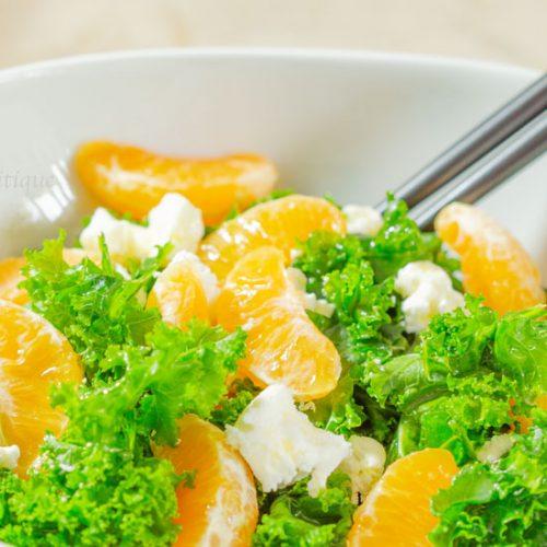 Kale, Mandarin Orange and Goat Cheese Salad