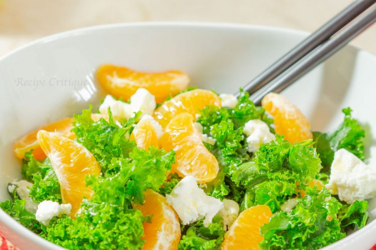 Kale, Mandarin Orange and Goat Cheese Salad