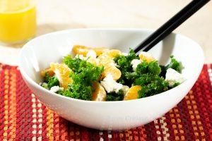kale mandarin orange and goat cheese salad