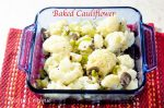 baked cauliflower casserole with mushrooms