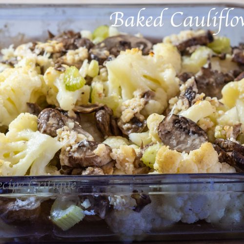 Baked Cauliflower Casserole with Mushrooms