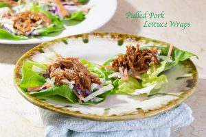 Low Carb Pulled Pork Lettuce Wraps