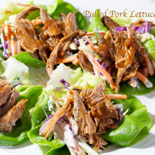 Easy Slow Cooker Pulled Pork Lettuce Wraps