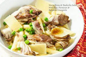 Penne Salad with Peas, Radicchio and Parmesan