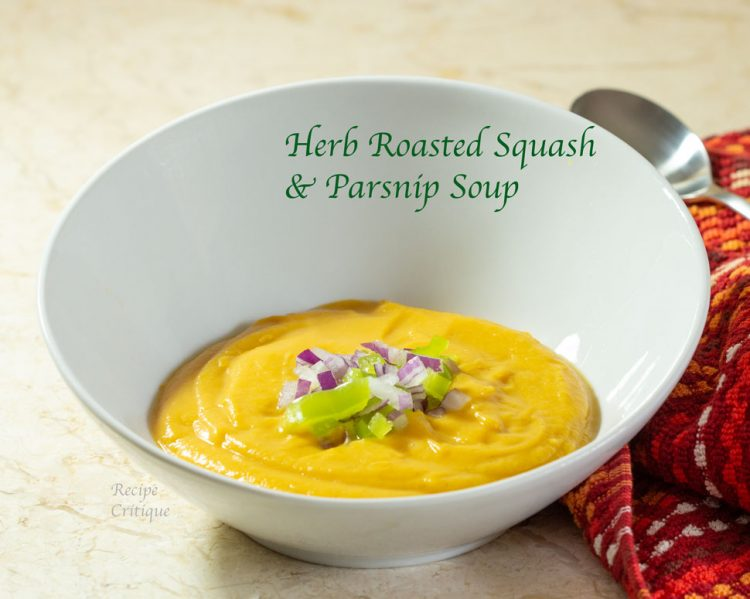 Easy Roasted Butternut Squash Soup with Parsnip